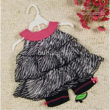 BNWT BABY GIRLS MODERN ANIMAL PRINT OUTFIT 12 MONTHS
