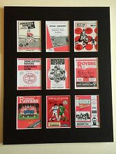 "Doncaster Rovers Football ClubProgramme Mounted Picture 14"" by 11"" Free Postage"