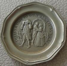 There Is A Time To Wink - Franklin Mint Miniature Collectible Plate - Vgc Bronze