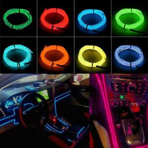 Glow LED Light El Wire String Strip Decorative Light + 3V/12V/USB Controller