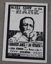 1968 The Bank CA Handbill Poster Shakey Jake and his All-Stars Morning Oct 4-12