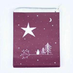 Christmas Paper Craft Gift Bags | Maroon Star Night Party East of India x50