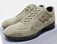 NIB $445 Italy HOGAN BY TOD'S Green-Suede Chunky Sports Sneakers Trainers 10.5