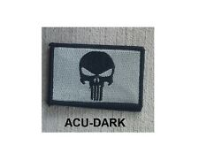 Morale Patch Special Ops Gear - PUNISHER - Nylon - ACU DARK - New - Hook & Loop