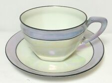 ANTIQUE RS R S GERMANY ART DECO LUSTER LUSTRE WARE PORCELAIN  CUP AND SAUCER *