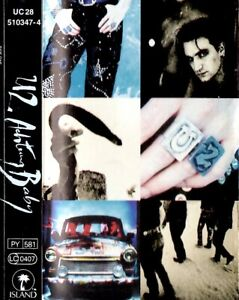 U2 - ACHTUNG BABY - 1991 CASSETTE ALBUM - FREE UK POST - CHROME TAPE VERSION
