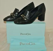 Paco Gil NEU: Pumps/Schuhe strukturiertes Leder/Leather mit Kettendetails Gr 40