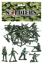 100 MINI TOY SOLDIERS SMALL MILITARY ARMY MEN FIGURES CHILDRENS LOOT/BAG FILLERS