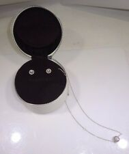 """and Earrings Sterling Silver S925 Pandora Matching 17"""" Necklace with Charm"""
