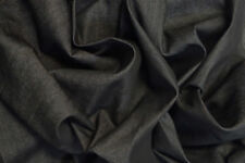 "12OZ BLACK STRETCH DENIM JEANS FABRIC BY THE METRE 58"" BY THE METRE"