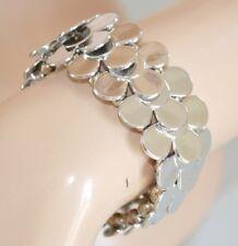 PULSERA mujer plata brazalete brillante rígido strass ceremonia armband 1045