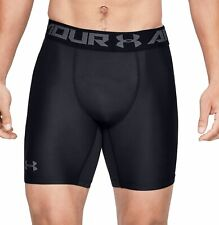 Under Armour HeatGear 2.0 Compression Mens Shorts Black Running Training Workout