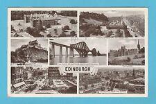 SCOTLAND  -  ANONYMOUS  POSTCARD  -  VIEWS  OF  EDINBURGH  -  1954