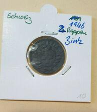SCHWEIZ > 2 Rappen > 1946 Zink > KM 4 A > SELTENER JAHRGANG