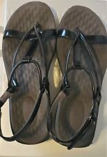 Privo by Clarks Black patent strappy sandal Size 6