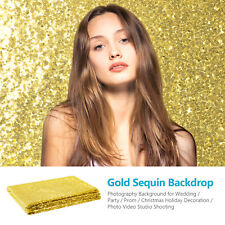 Neewer 4 x 6 Feet Gold Sequin Backdrop Photography Video Shooting Background