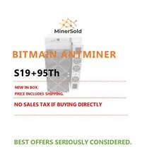 NEW Bitmain Antminer S19 pro 95T. IN STOCK. FREE SHIPPING. N.AMERICAN SELLER.