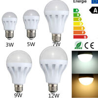 E27 Energy Saving LED 3W 5W 7W 9W 12W Bulbs Light Lamp AC 110/220V DC 12V