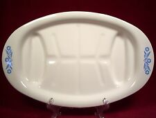 Corning Ware Blue Cornflower Platter with Wells Grill Plate P-19 Blue Flowers