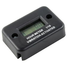 Motorcycle Tach Vibration Activated Hour Meter For ATV Snowmobile Gas Engine New