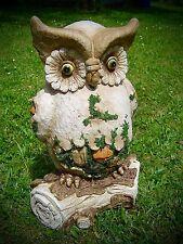 Keramik Eule Dekoartion Garten Terrasse Beet Topfstecker Handarbeit Figur Uhu