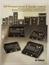 1980 Yamaha Self-Powered Mixers & Speaker System Catalog, Must See One of a Kind