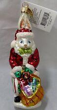 Radko Santa Suits Billy Bunny Ornament 00-1264-0 Rtd 2000 Nwt Signed