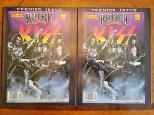 "pair of 2 Rock N Roll Comics #1 KISS 1990 Revolutionary Comics ""1st Print"""