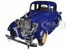 1933 CHEVROLET 2 PASSENGER 5 WINDOW COUPE BLUE 1/32 MODEL CAR BY NEW RAY 55163