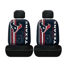 Football New Houston Texans  Low Back Front Seat Covers Universal Fit-Set of 2