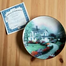 Knowles Collector Plate Home Sweet Home Thomas Kinkade Limited Edition w/Cert
