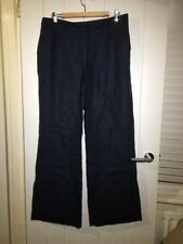Boden Wide Leg Linen Mid Rise Trousers for Women
