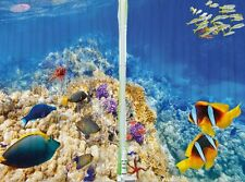 Under Water Sealife Fish Coral Reef KITCHEN CURTAIN PANEL Set Tropical Ocean Art