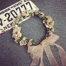 Beach Party Crown Bride Wedding Headband Floral Headdress Flower Hairband