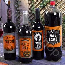 Halloween Potion Bottle Labels Stickers Wine Pop Bottle Labels Party Decoration