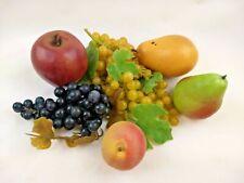 Vintage Lot Artificial Fruit Faux Fake Realistic Grapes Pears Apple Peach