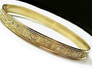 Vintage Zodiac Signs Bangle Bracelets Gold Filled 1/20 14K Astrology Bangles