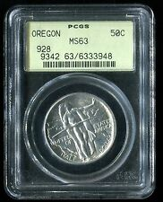 1928 Half Commemorative Oregon PCGS MS63