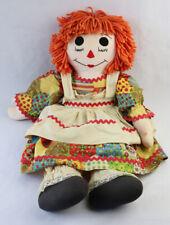 VINTAGE Handmade RAGGEDY ANN Doll ORANGE HAIR Fredonia NY