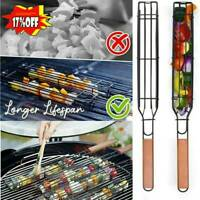 Easy Non-Stick Kebab Barbecue Basket Coated Steel BBQ Barbecue Basket Grill F3U2