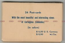 Colombia Linen Postcards Set. 24 pcs. Cartagena. Excellent condition! c 1935