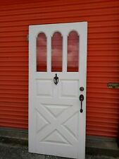 Exterior Vintage Wood Door 3 Arch Panes Glass Barn Style 36 X80 We Ship!