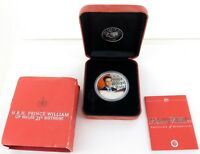 .2003 PERTH MINT PRINCE WILLIAM OF WALES 21ST BIRTHDAY $1 1 OZ .999% SILVER COIN