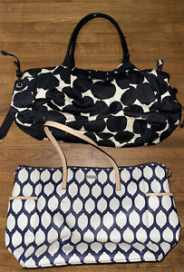 Kate Spade Black and White Spotted Diaper Bag Lot OF 2. STAINS/SCUFFS