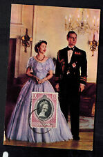 1953 Malaya Coronation Maxi Card Postcard cover Queen Elizabeth II QE2