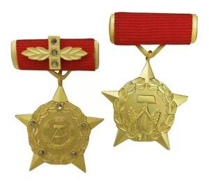 Held der DDR + Held der Arbeit (2. Form)   DDR-Orden GDR Kollektiv VEB Aktivist