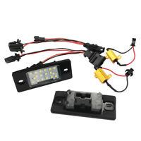 2x 18 LED License Plate Light Direct Fit For VW / Passat (B5.5)  5D Touring Ligh