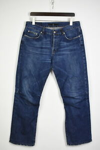 STONE ISLAND Men's W38 L31 Straight Fit Knee Seams Blue Jeans 35624-GS