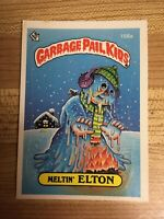 RARE ERROR! 1986 Garbage Pail Kids #158a MELTIN' ELTON BLACK EYELASH Error Card!