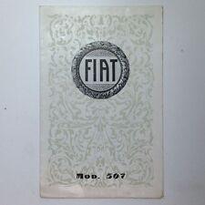✇ Original Prospekt FIAT 507 von 1926/1927 brochure rare